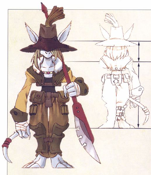 Concept art of Fratley, as shown in the FFIX artbook